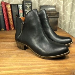 Lucky Brand Size 8M Basonta Ankle Boots Zipper